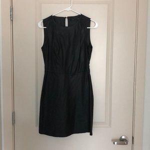 Zara black faux leather dress